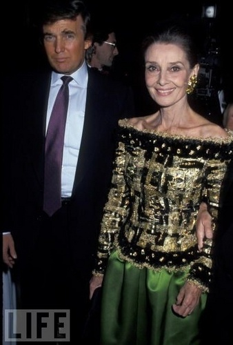 오드리 헵번 바탕화면 probably with a business suit and a dress suit entitled Casita Maria Fiesta 1992 Benefit - With Donald Trump