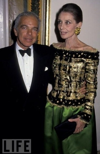 Audrey Hepburn fond d'écran entitled Casita Maria Fiesta 1992 Benefit - With Ralph Lauren