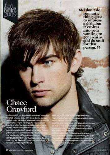 Nate Archibald wallpaper possibly containing a newspaper, anime, and a portrait titled Chace Crawford