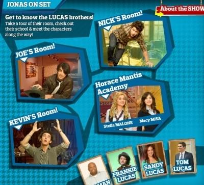 Disney's Website Screencaps