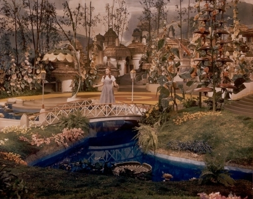 The Wizard of Oz wallpaper probably containing a fountain titled Dorothy On The Bridge