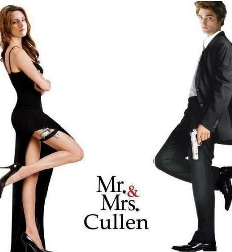 Mr and Mrs Cullen 바탕화면 with a well dressed person, a business suit, and a hip boot called Edward and Bella