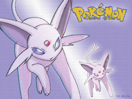 Eevee Evolutions Clan fondo de pantalla probably containing anime titled Espeon fondo de pantalla