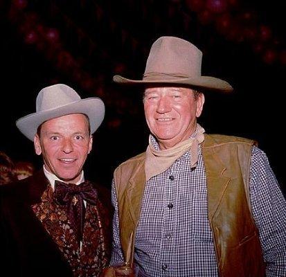 Frank Sinatra and John Wayne