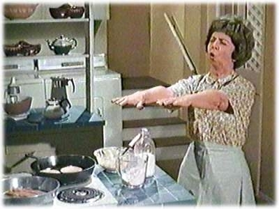 Bewitched wallpaper possibly with a kitchen titled Gladys Kravitz