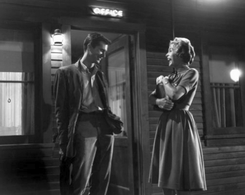 Janet Leigh and Anthony Perkins
