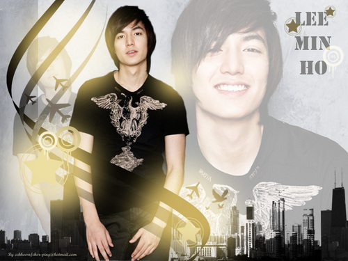 Lee Min Ho wallpaper probably with a sign and a portrait entitled Lee min ho :)