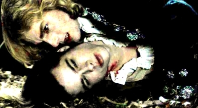 Interview with a Vampire achtergrond entitled Lestat and Louis, inseperable.