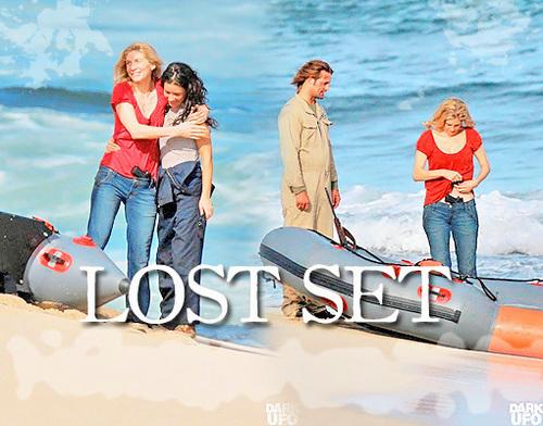 Lost on set