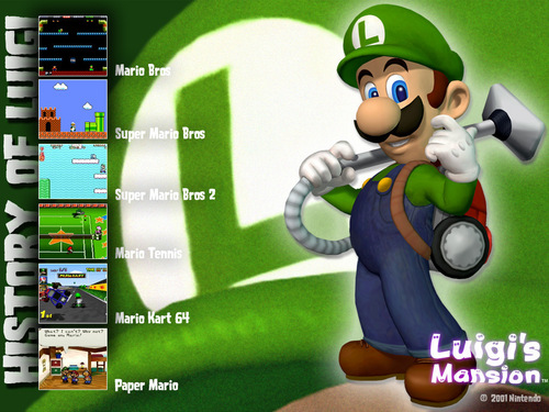 Super Mario Bros. wallpaper probably containing anime called Luigi's Mansion: History