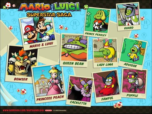 Super Mario Bros. wallpaper with an electric refrigerator and anime called Mario & Luigi: Superstar Saga