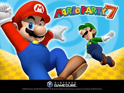 Super Mario Bros. wallpaper probably containing anime entitled Mario Party 7