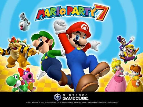 super mario bros wallpaper probably with animê titled Mario Party 7