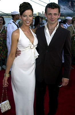 Michael Sheen and Kate Beckinsale at the premiere of Pearl Harbor
