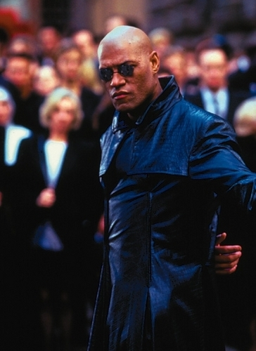 The Matrix 壁纸 with a business suit entitled Morpheus