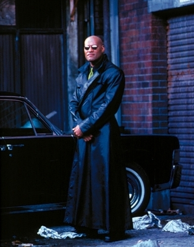 The Matrix wallpaper with a business suit entitled Morpheus