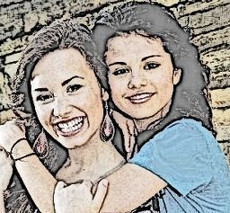 My drawing of Demi and Selena