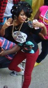 """On set while making the video """"rOllerz Out"""""""