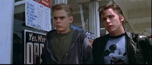 The Outsiders wallpaper probably containing a holding cell called PONYBOY AND TWO-BIT