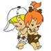 Pebble Flintstone and Bamm Bamm Rubble Icon - the-flintstones icon