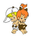 Pebbles Flintstone and Bamm Bamm Rubble