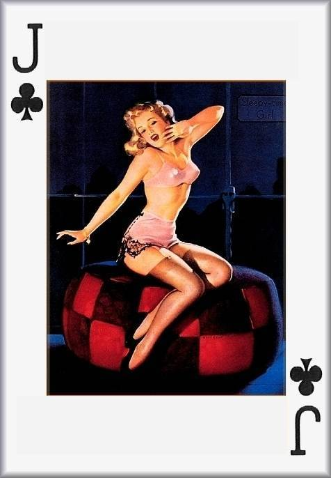 Pin up playing cards Etsy