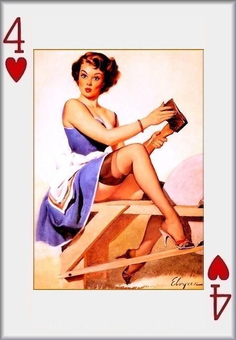 pin up girl playing cards eBay