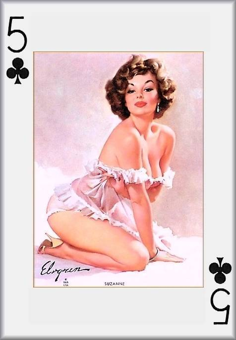 Lingerie Shemale Girl playing card are