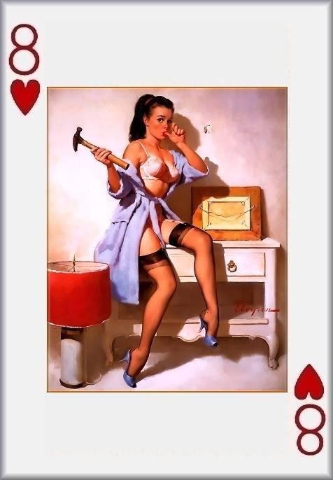 Pinup Girl Playing Cards : EBTH