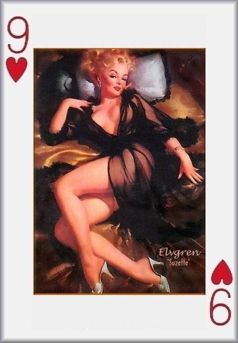 Amazoncom: pin up girl playing cards