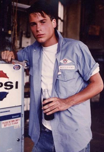 The Outsiders Rob Lowe Shower book movie lovin young...