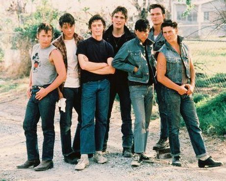 The Outsiders achtergrond containing bellbottom trousers and a jean entitled SODAPOP CURTIS