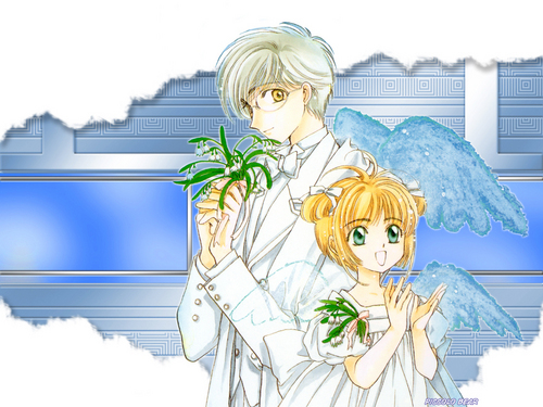 Cardcaptor Sakura پیپر وال possibly containing عملی حکمت called Sakura and Yukito
