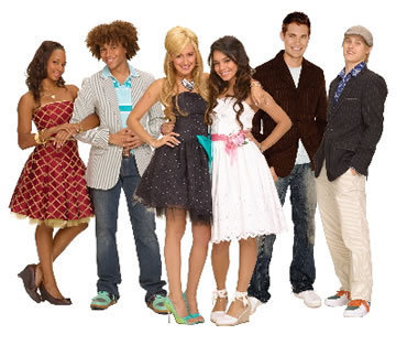 High School Musical 3 wallpaper possibly with a bridesmaid called Sharpay,Troy,Gabriella,Ryan,Taylor,and Chad