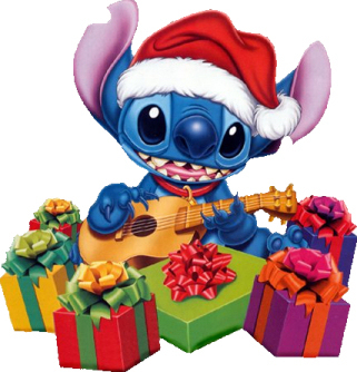 Lilo & Stitch achtergrond probably containing anime entitled Stitch Christmas