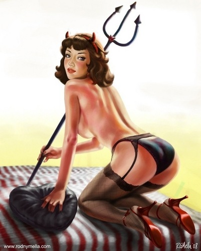 Pin Up Girls wallpaper probably containing attractiveness entitled The Temptress