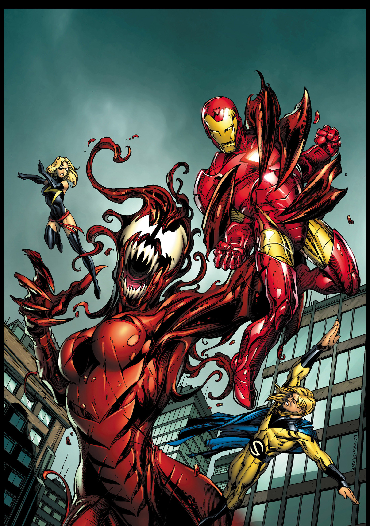 Marvel comics carnage vs iron man