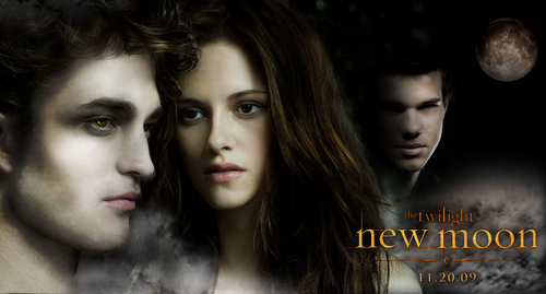 New Moon Movie wallpaper with a portrait called edward-bella-jacob