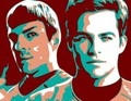 new kirk & spock - star-trek-2009 fan art