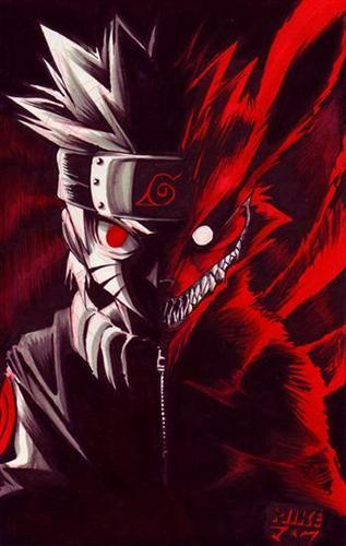 nine tailed vos, fox naruto