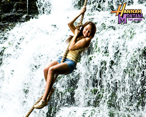 Hannah Montana wallpaper containing a fountain, a water, and a bather entitled nini