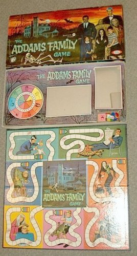 Addams Family wallpaper probably with anime titled 1964 Addams Family Board Game