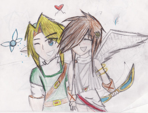 A Picture of Link and Pit I drew