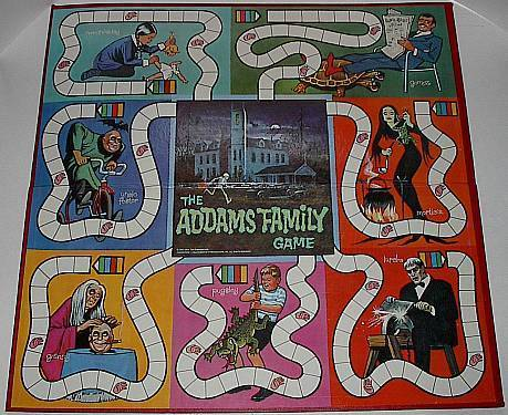 Addams Family Board Game 1964