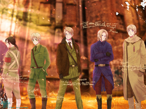 Hetalia wallpaper called Allies Wallpaper
