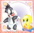Baby Tweety Bird and Sylvester