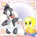 Baby Tweety and Baby Sylvester Icon - tweety-bird icon