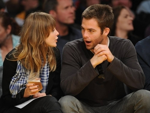 Celebrities at the Lakers game (09)