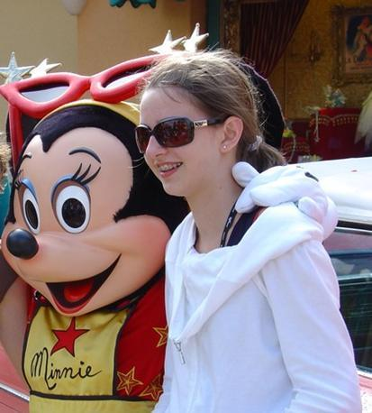 Celine in Disneyland Paris (summer 2008)