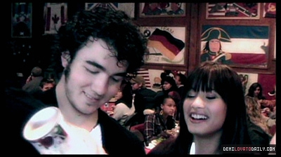 Demi and Kevin Jonas